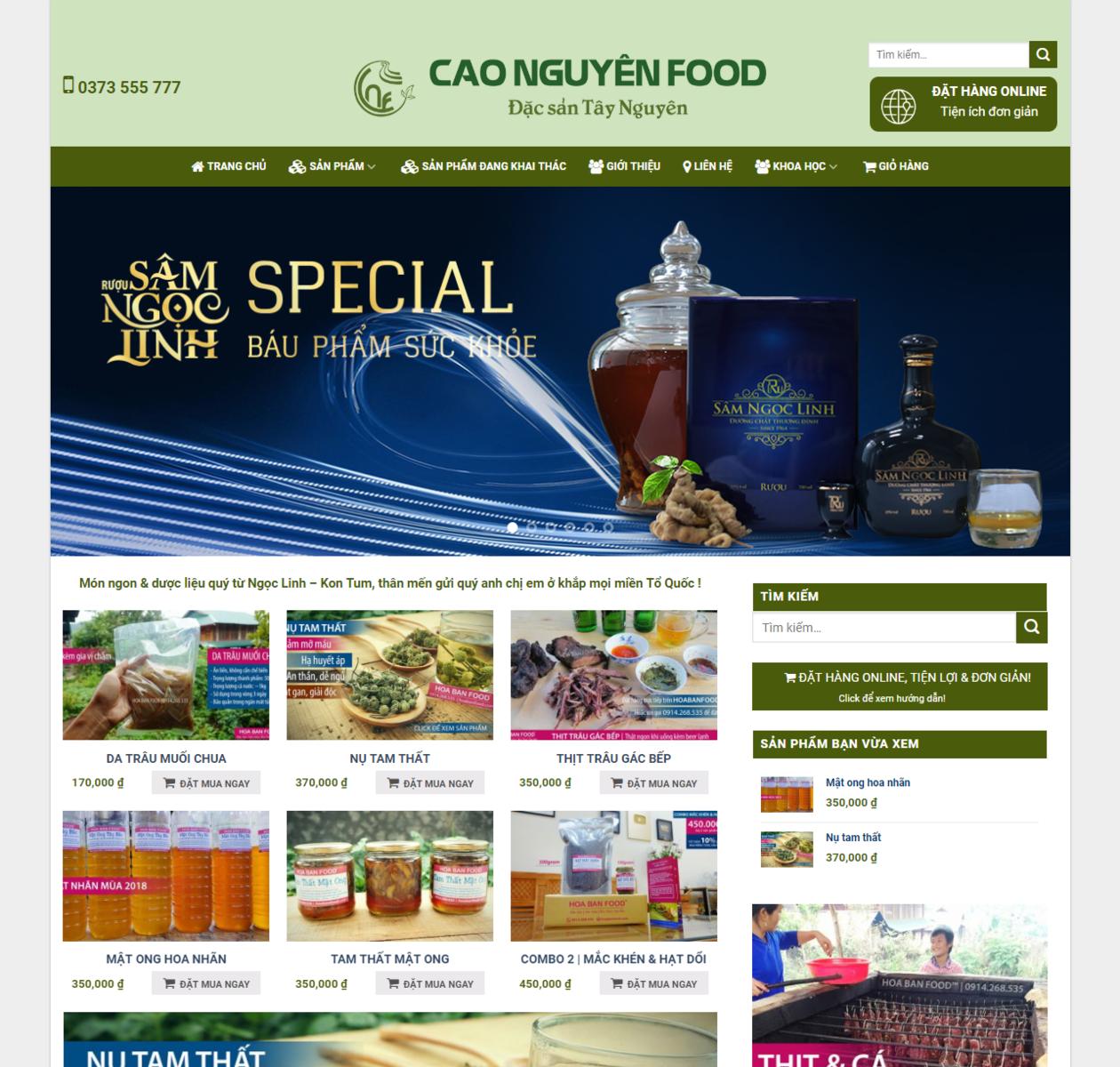 Mẫu web bán hàng đặc sản tây bắc thumbnail