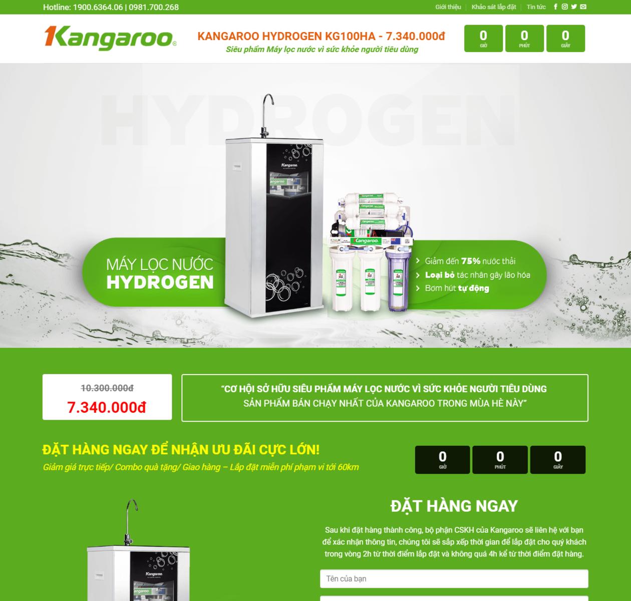 Landing page bán máy lọc nước thumbnail