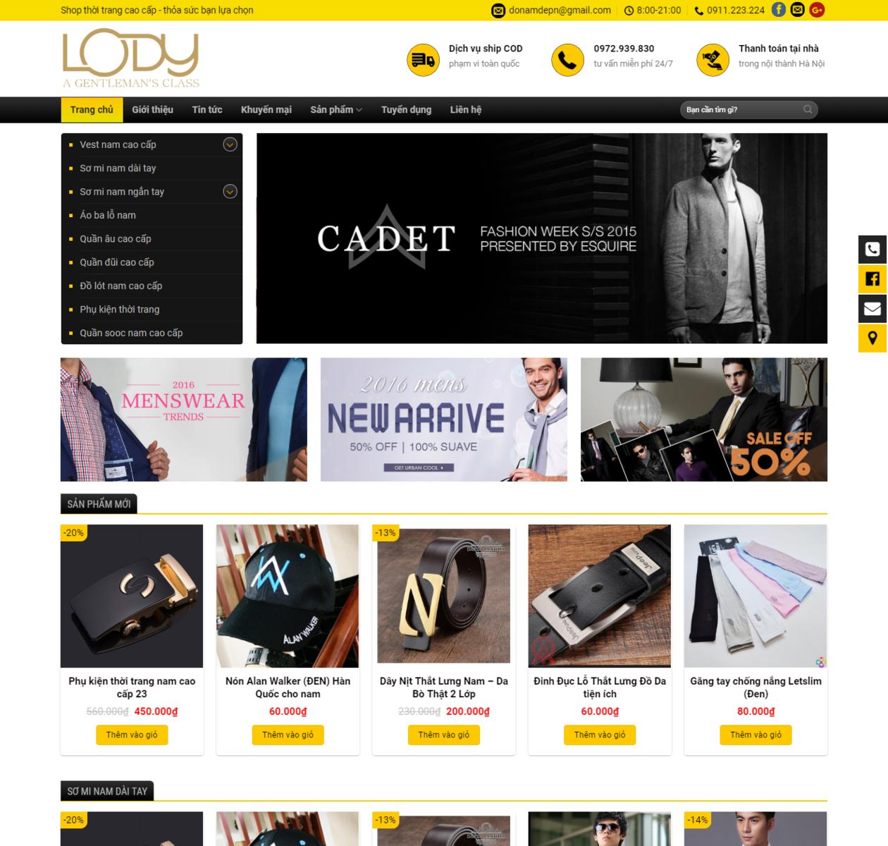 Mẫu web shop thời trang nam thumbnail