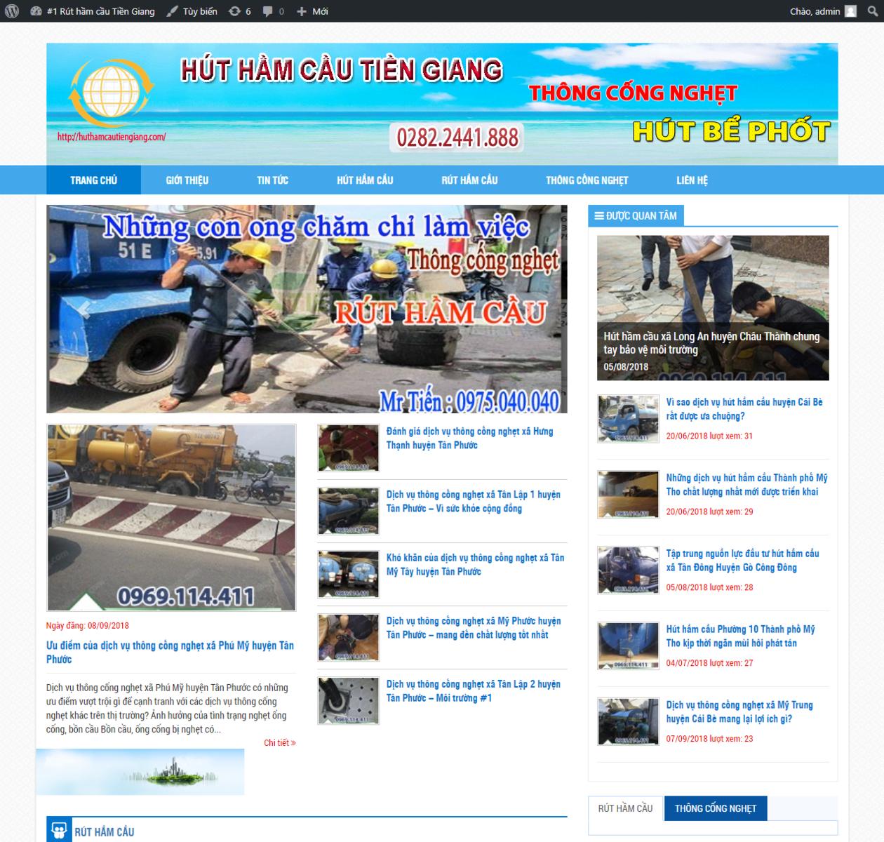 Mẫu website thông cống nghẹt thumbnail