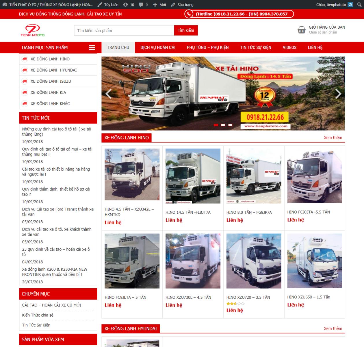 Thiết kế web bán xe tải thumbnail