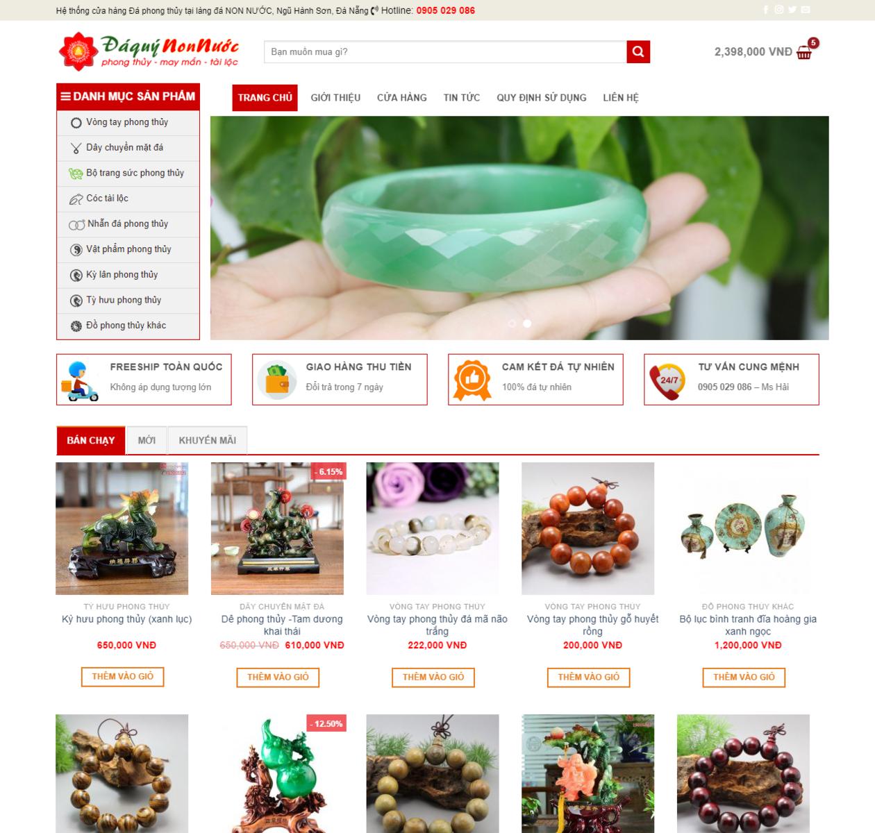 Mẫu web bán phong thủy trang sức thumbnail