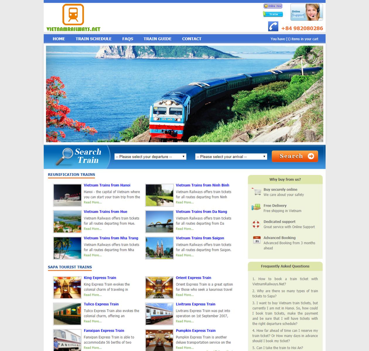 Thiết kế web bán vé tàu online thumbnail