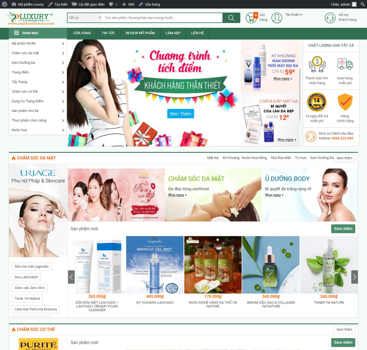 Thiết kế web mỹ phẩm thumbnail