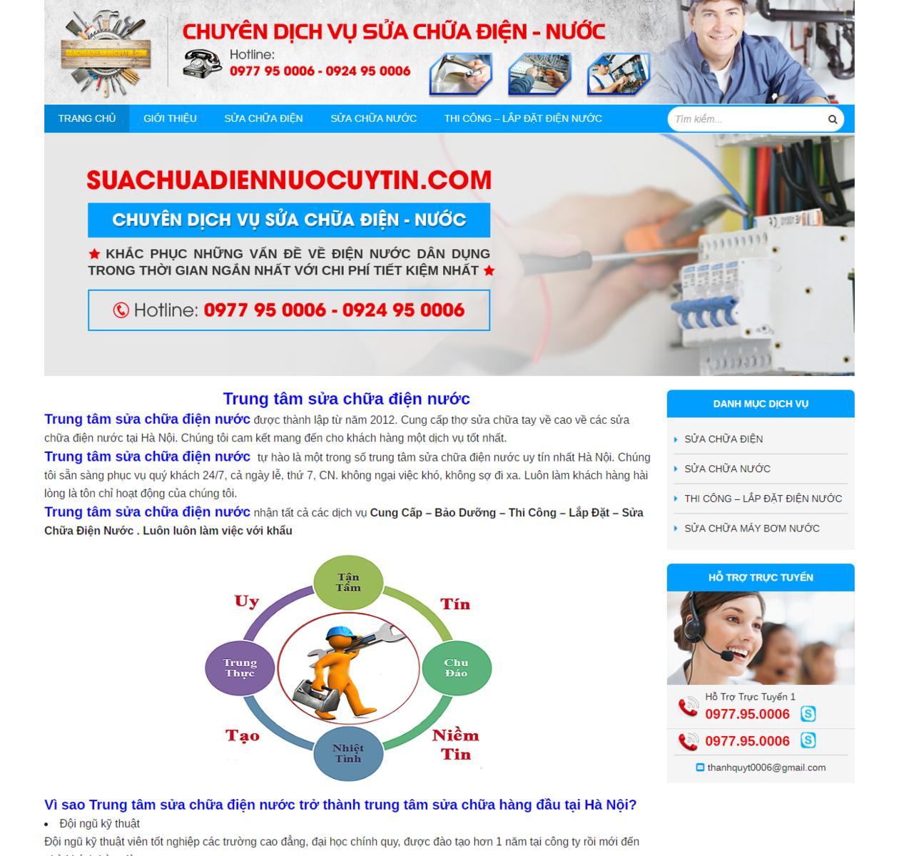 Mẫu web sửa chữa điện nước thumbnail