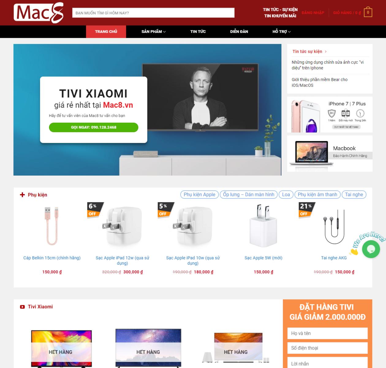 Mẫu website bán đồ công nghệ thumbnail
