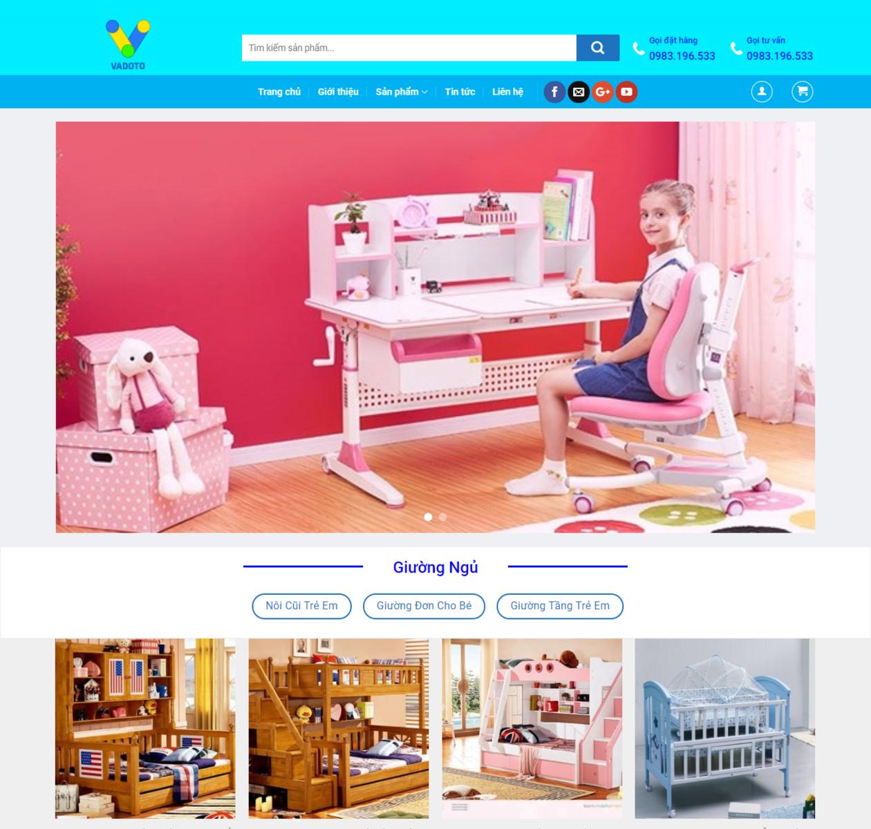 Mẫu web bán nội thất thumbnail