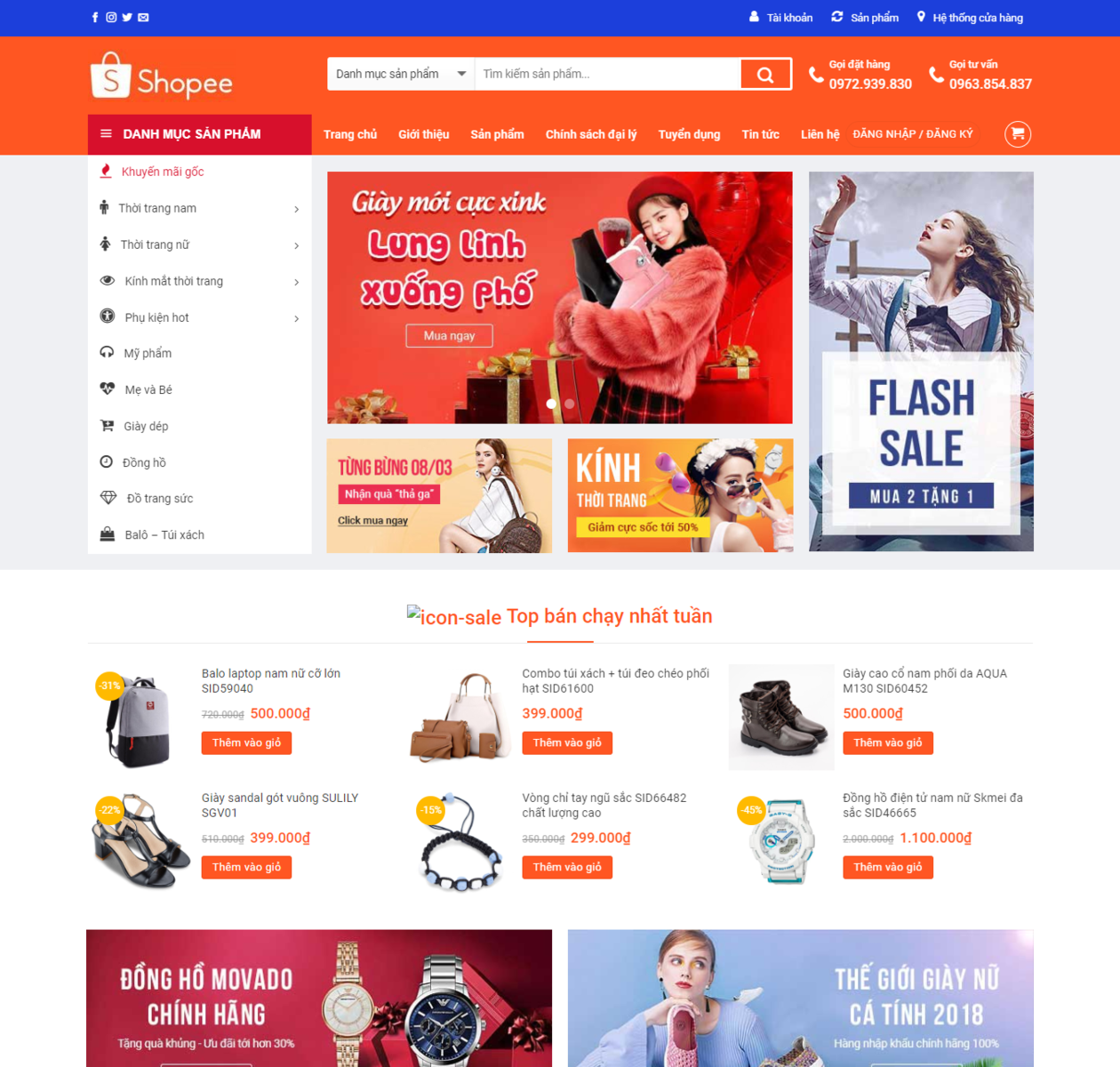 Mẫu web bán hàng shoppe thumbnail