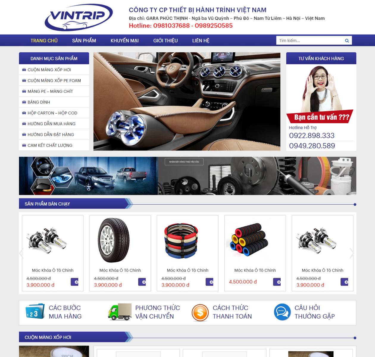 Mẫu web bán phụ kiện ô tô thumbnail