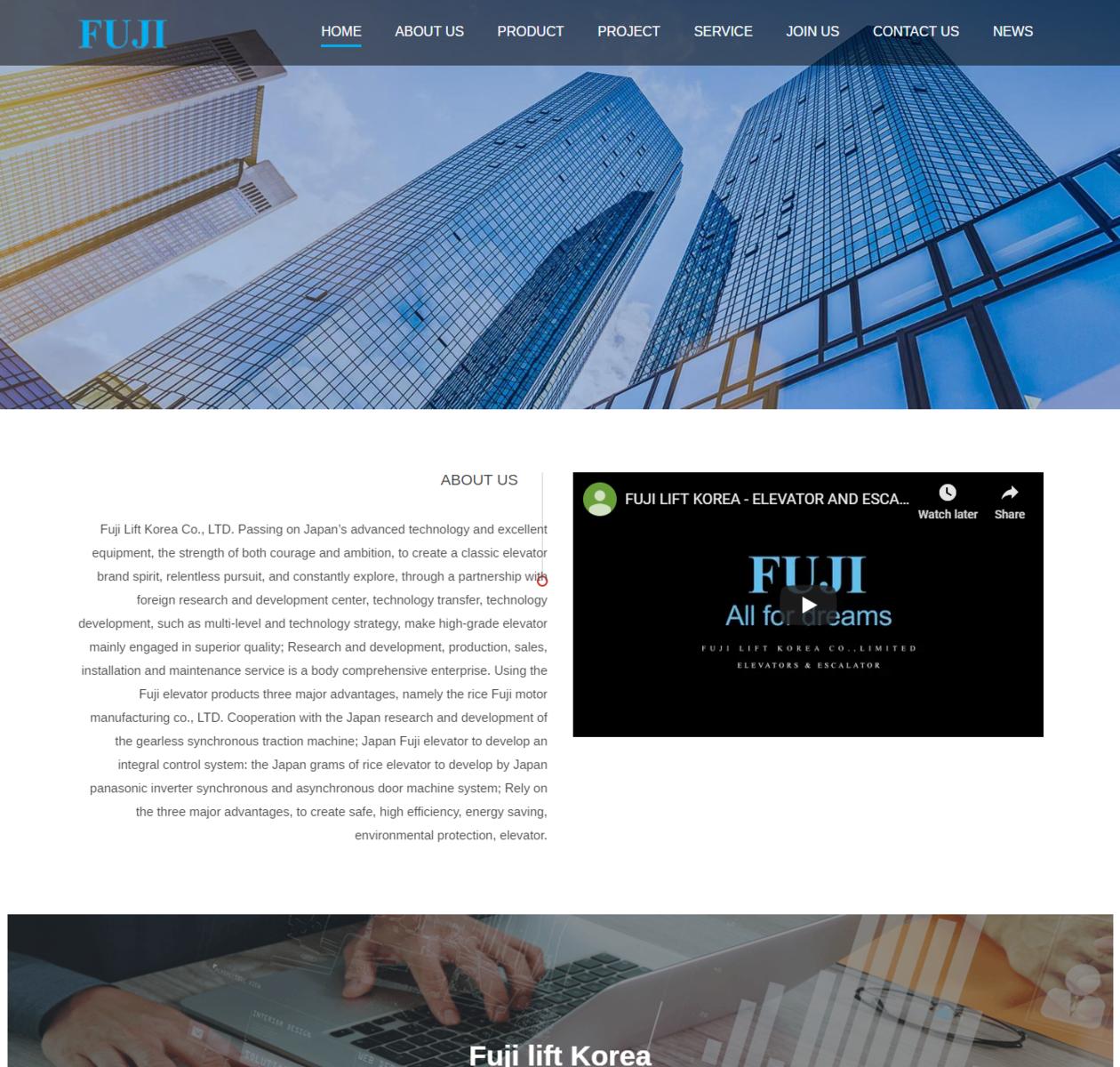 Mẫu web giới thiệu công ty thumbnail