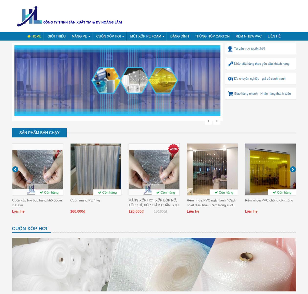 Mẫu web bán hàng công nghiệp thumbnail