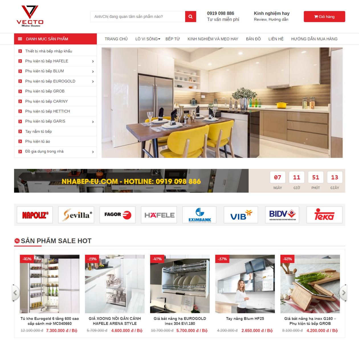 Thiết kế website bán tủ bếp thumbnail