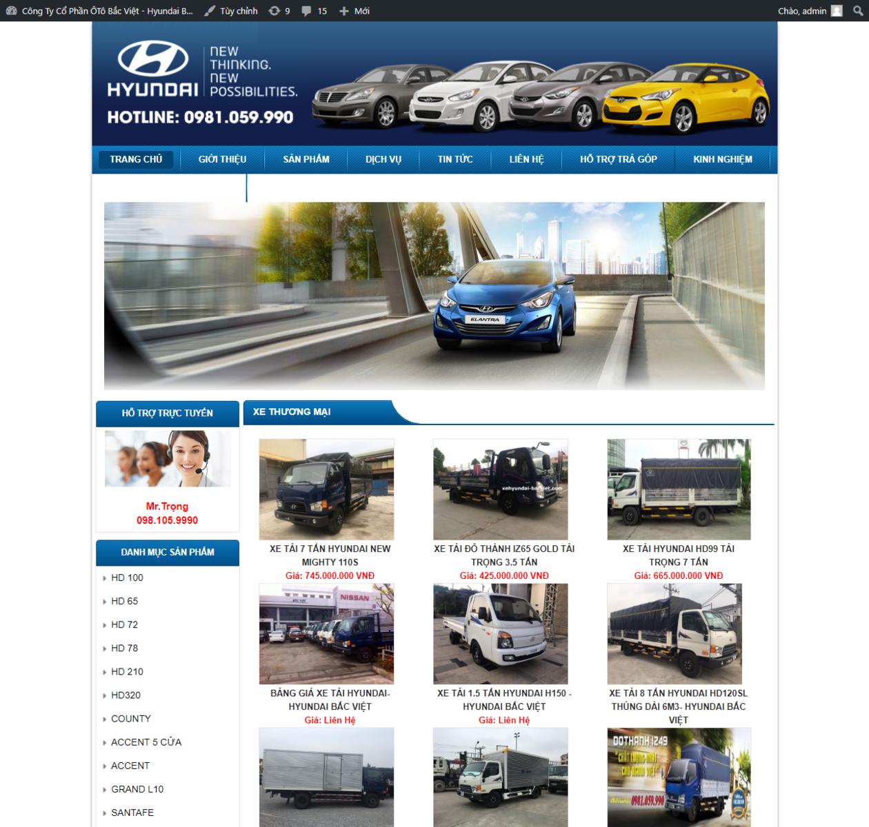 Mẫu web bán xe tải thumbnail