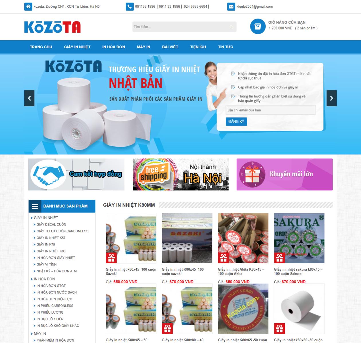 Thiết kế web văn phòng phẩm thumbnail