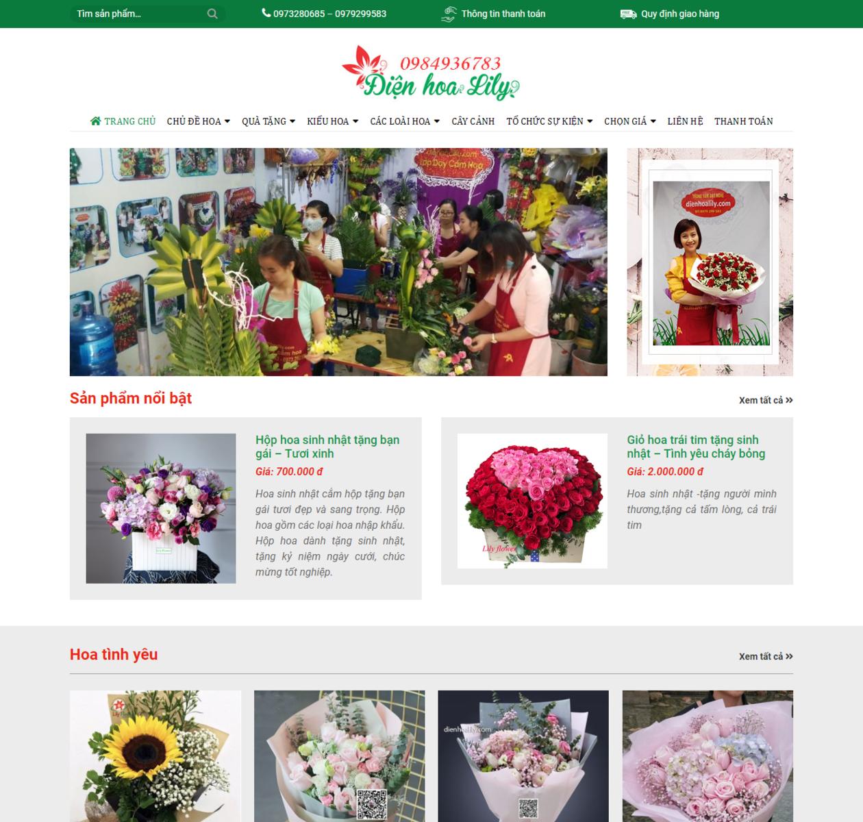 Mẫu web bán điện hoa thumbnail
