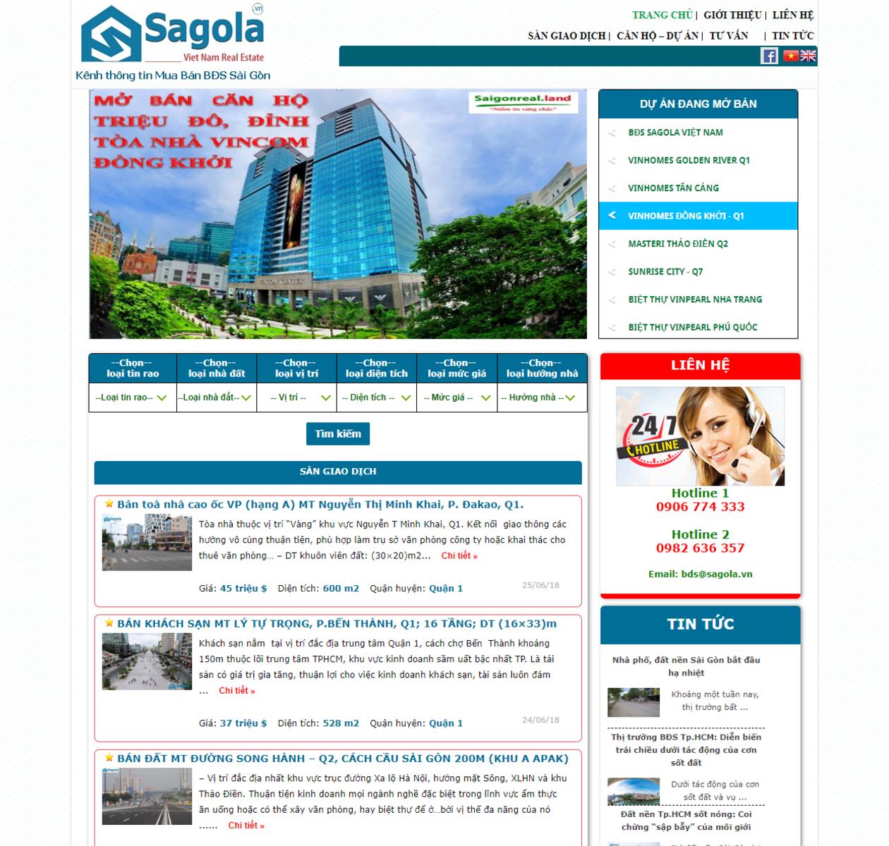 Mẫu website bất động sản thumbnail