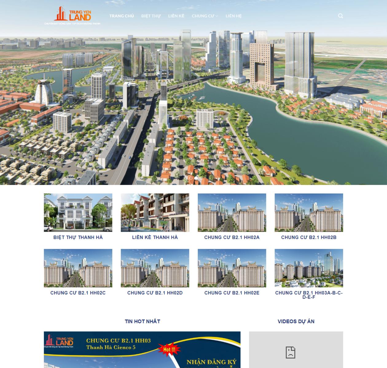 Mẫu web bất động sản giá rẻ thumbnail