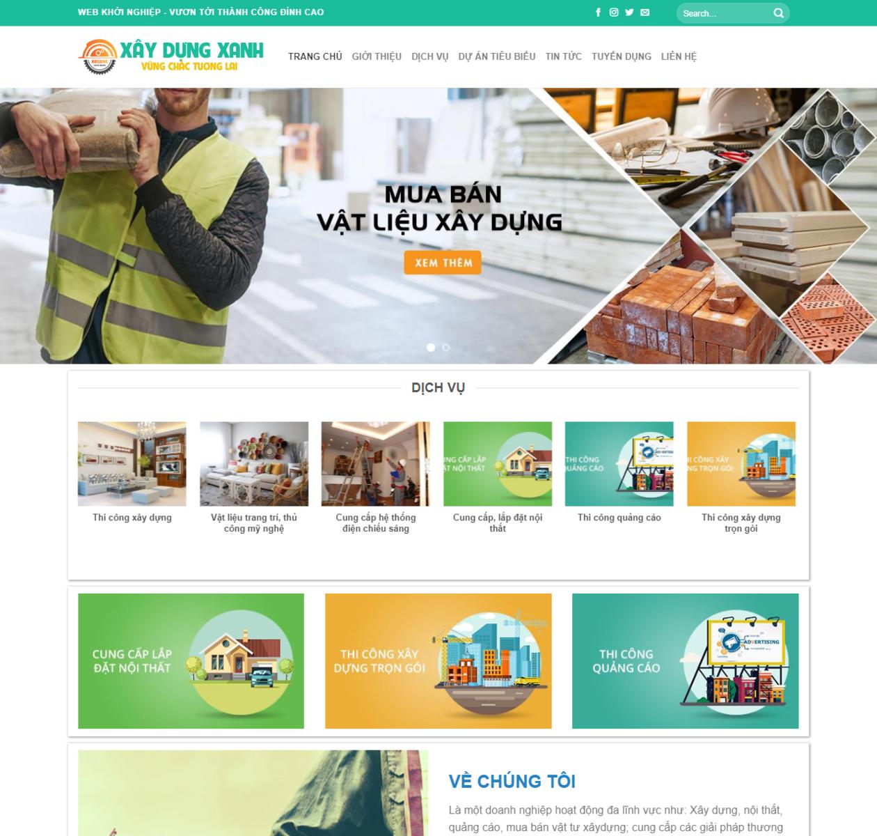 Thiết kế web xây dựng xanh thumbnail