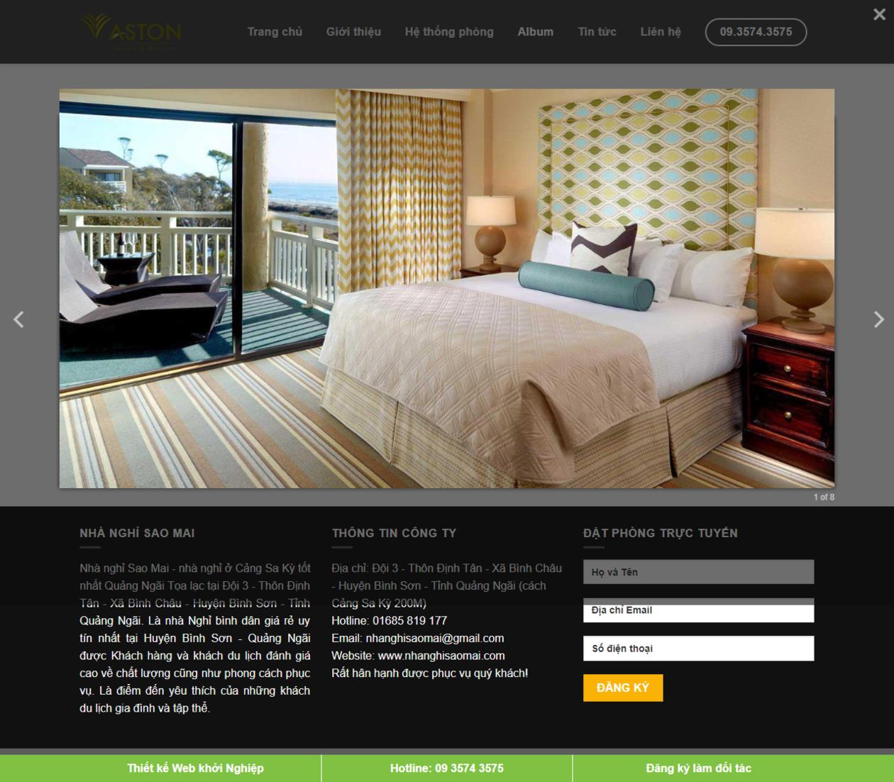 Mẫu website khách sạn thumbnail