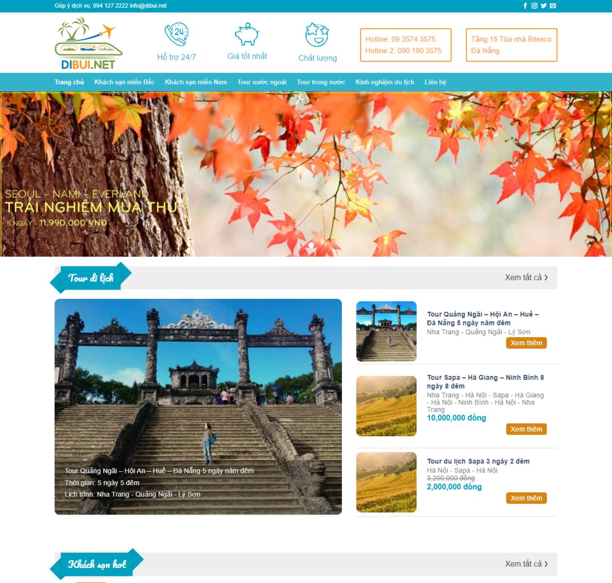 Mẫu web du lịch đẹp thumbnail