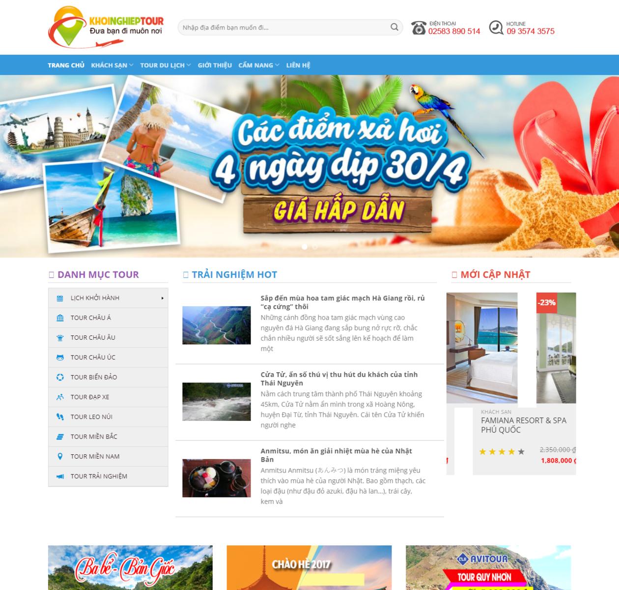 Thiết kế web du lịch đẹp thumbnail