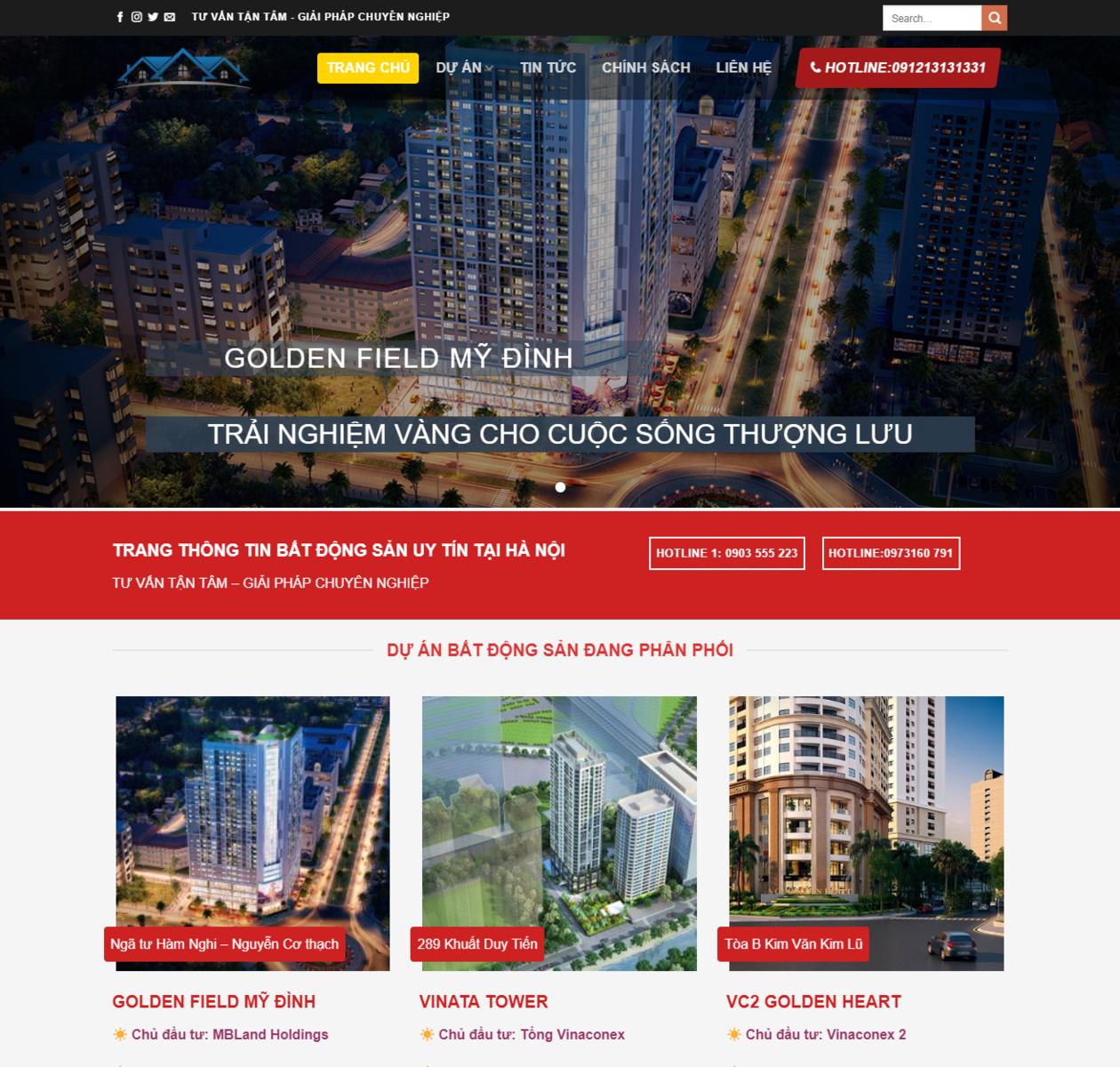 Mẫu web bất động sản 12 thumbnail