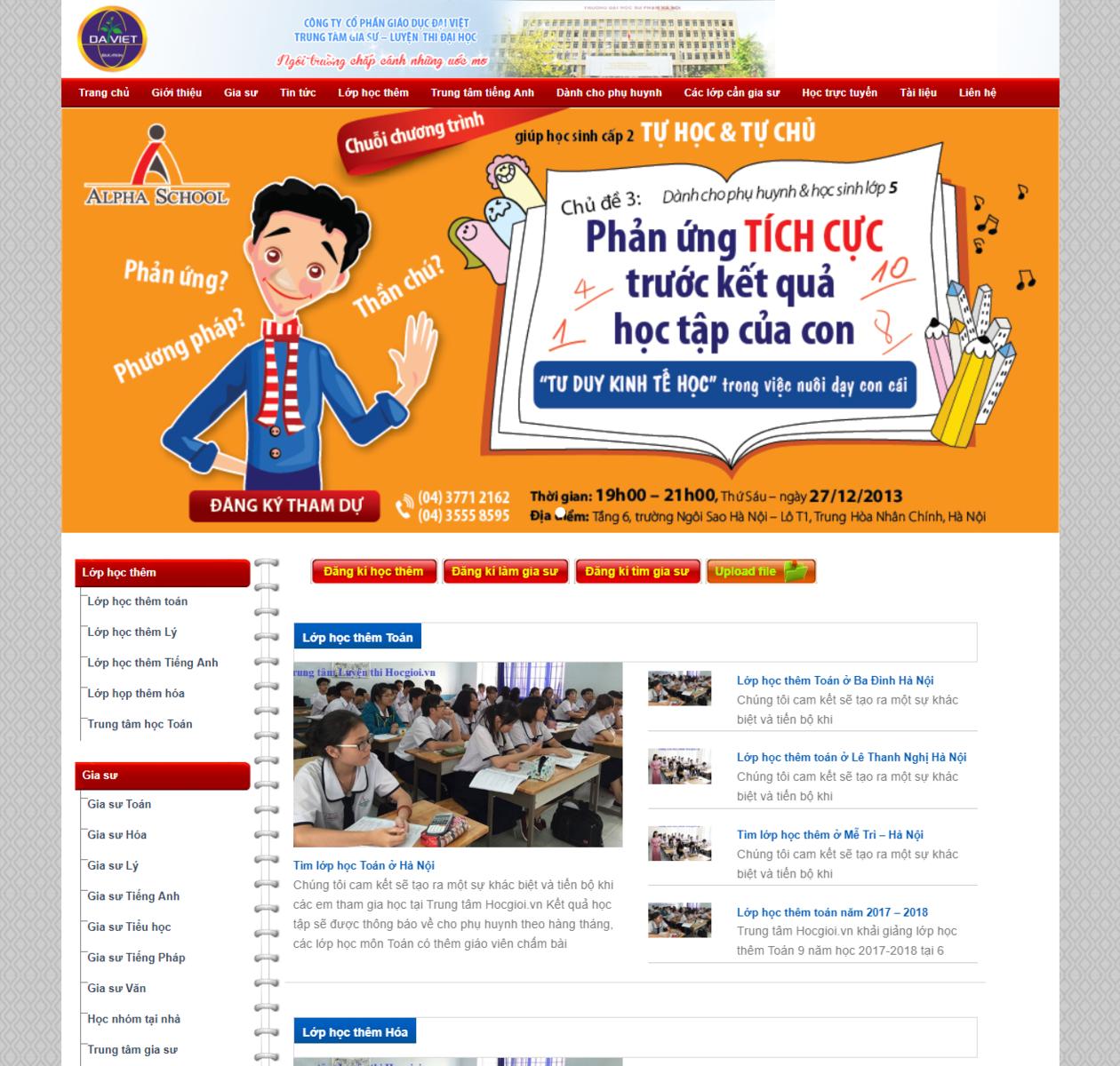 Mẫu web giáo dục đẹp thumbnail