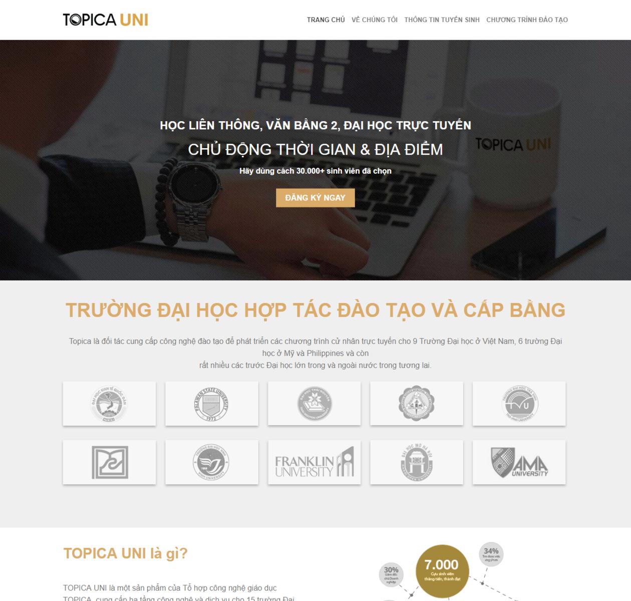 Thiết kế web khóa học thumbnail