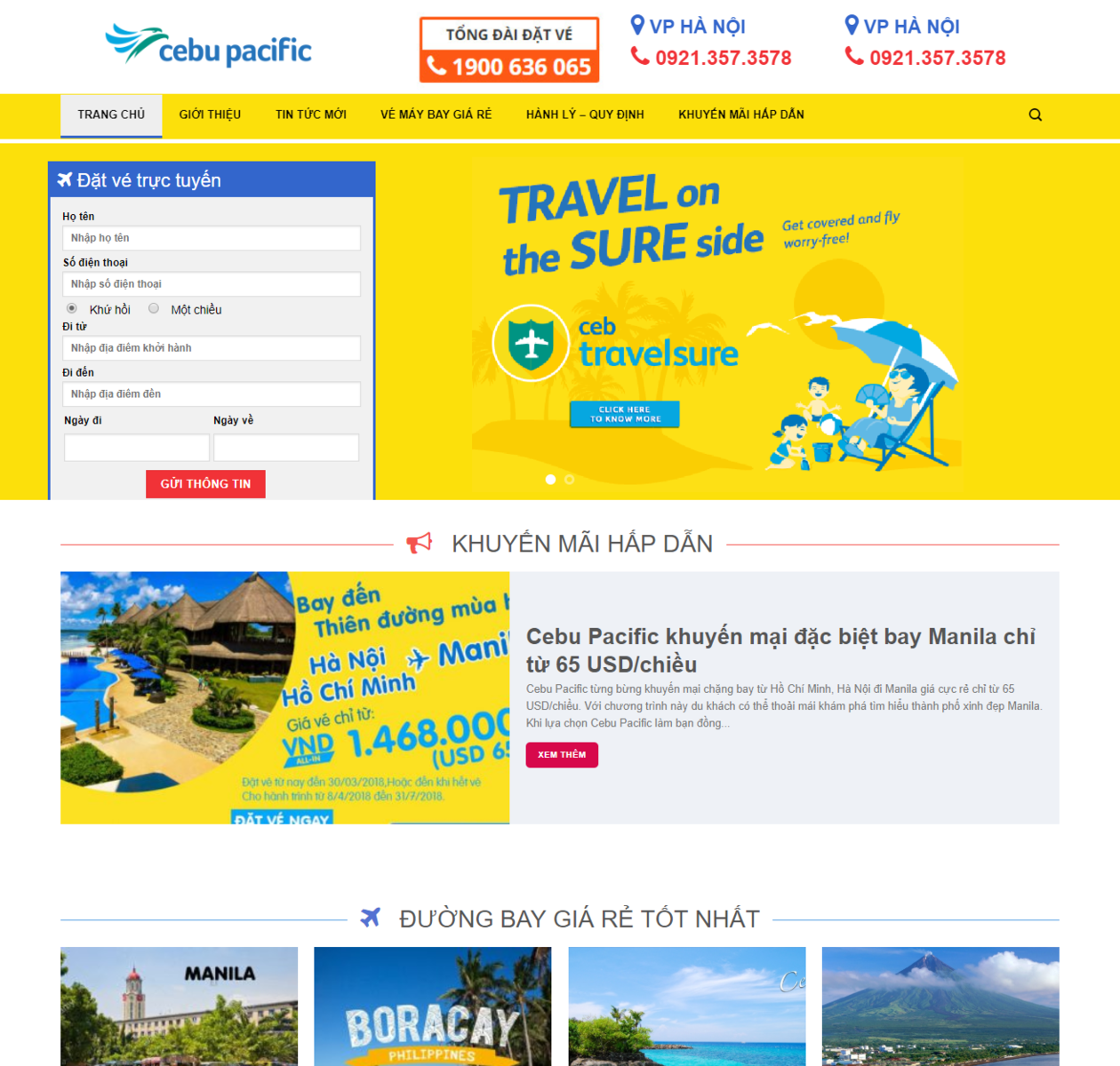 Mẫu web du lịch 06 thumbnail