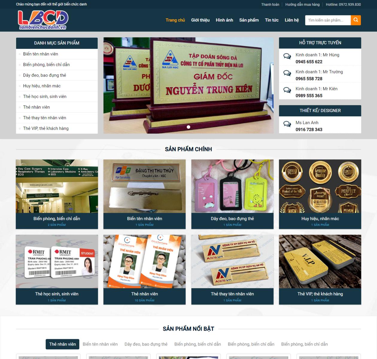 Mẫu web dịch vụ in ấn thumbnail