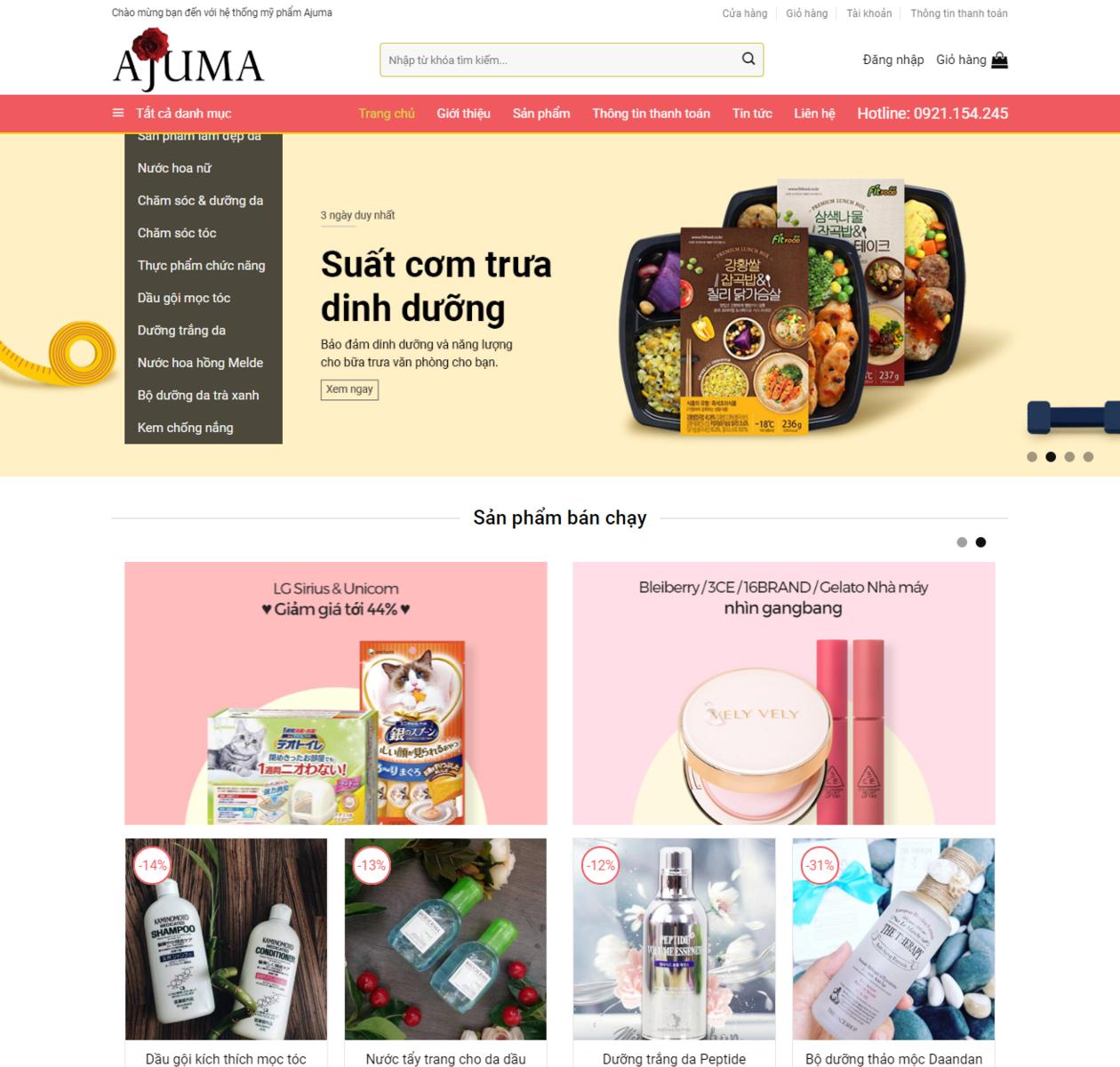 Mẫu web shop bán hàng đẹp thumbnail