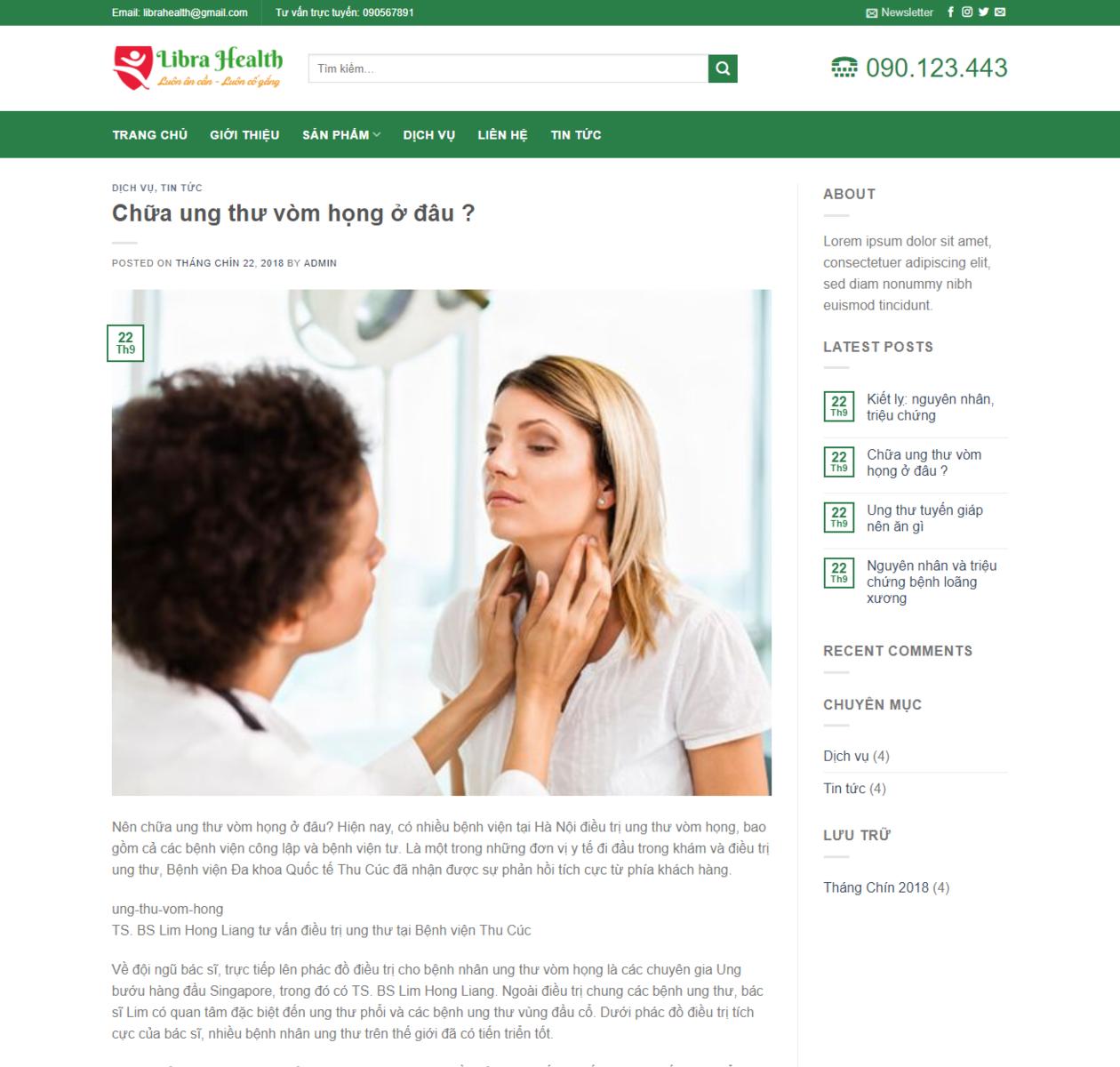 Mẫu web phòng khám bệnh thumbnail