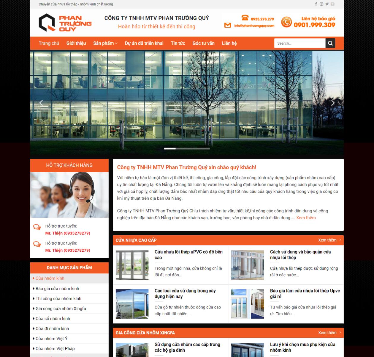 Thiết kế web nhôm kính thumbnail