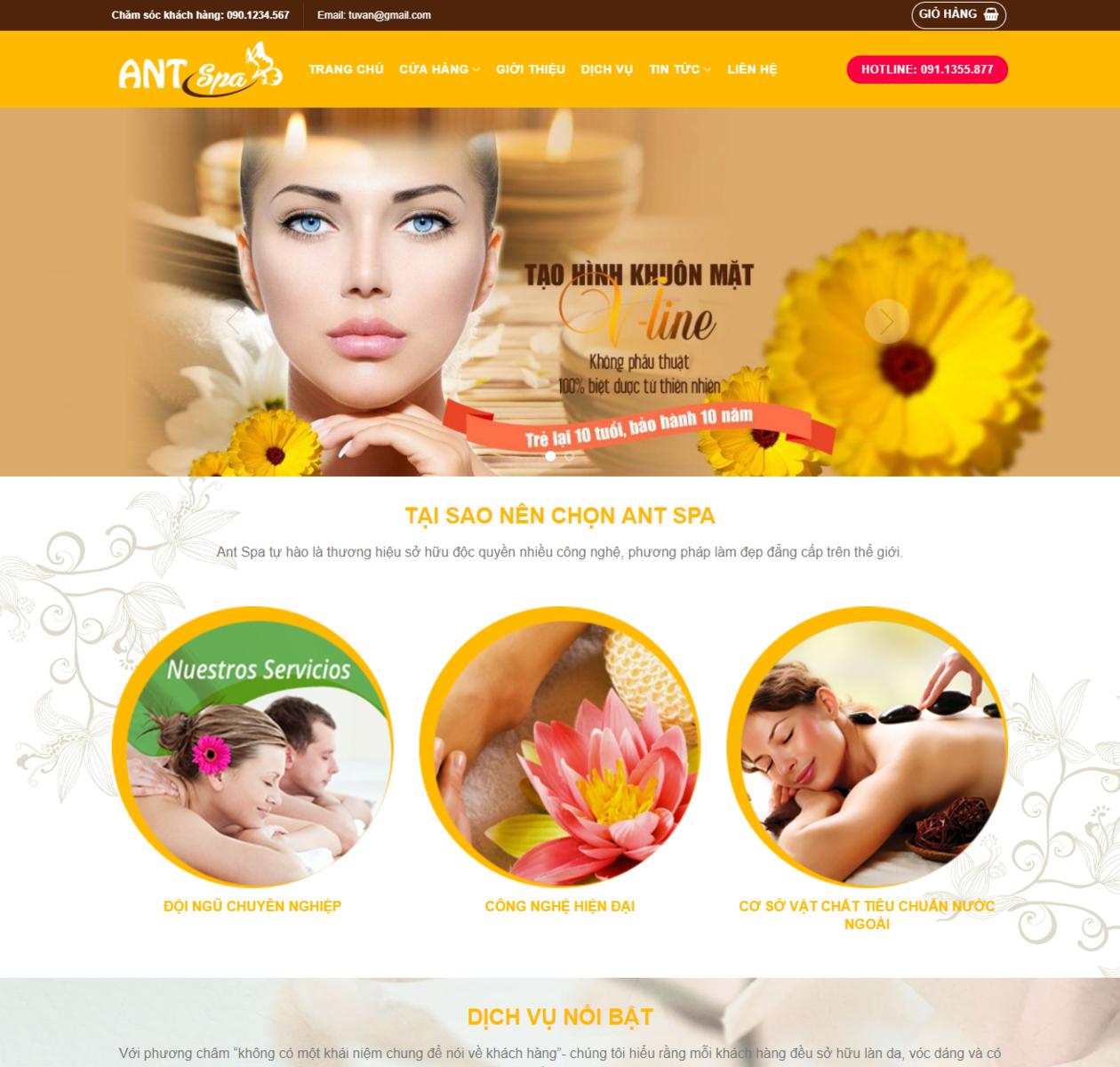 Thiết kế web ANT Spa thumbnail