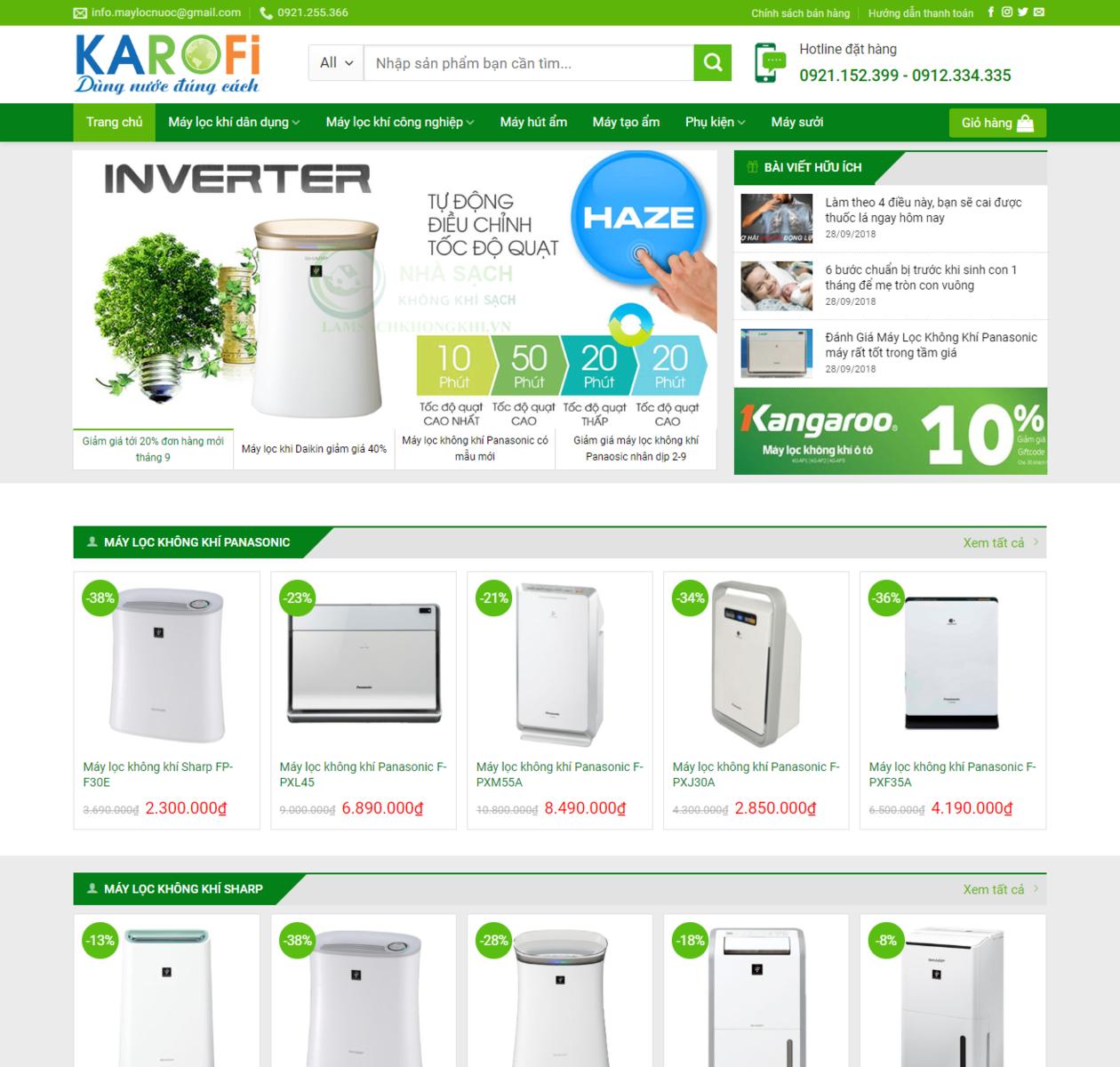 Mẫu web bán máy lọc nước thumbnail