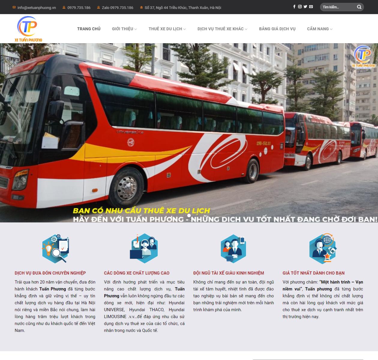 Thiết kế web thuê xe du lịch thumbnail