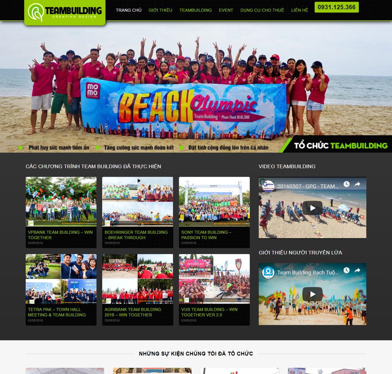 Thiết kế web tổ chức sự kiện thumbnail