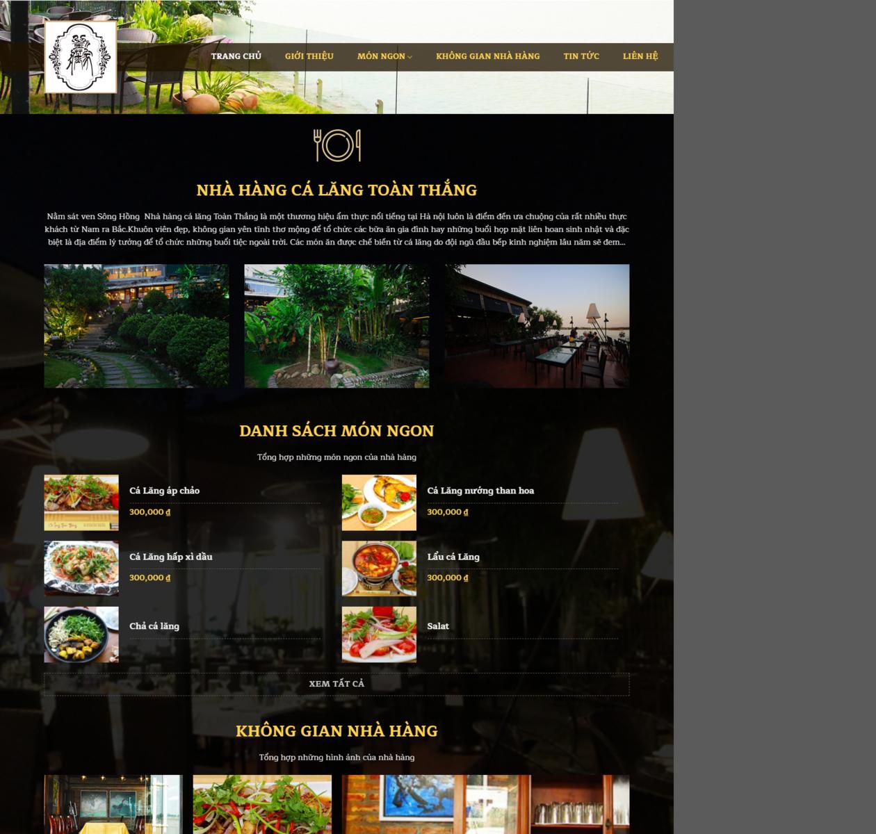 Mẫu web nhà hàng 05 thumbnail