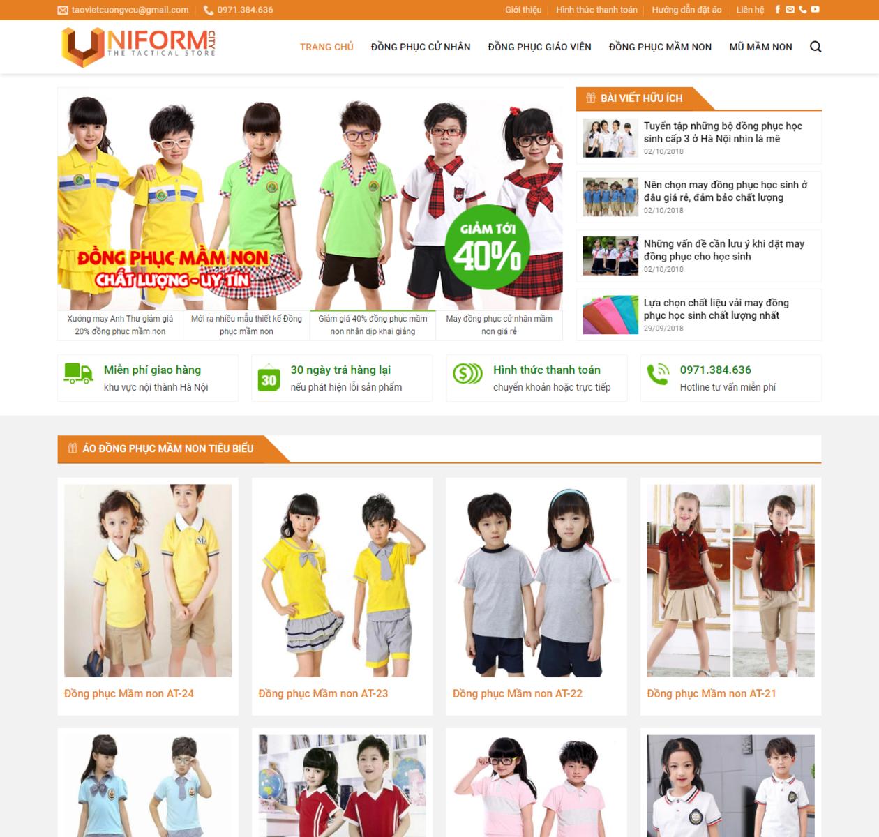 Thiết kế web đồng phục thumbnail