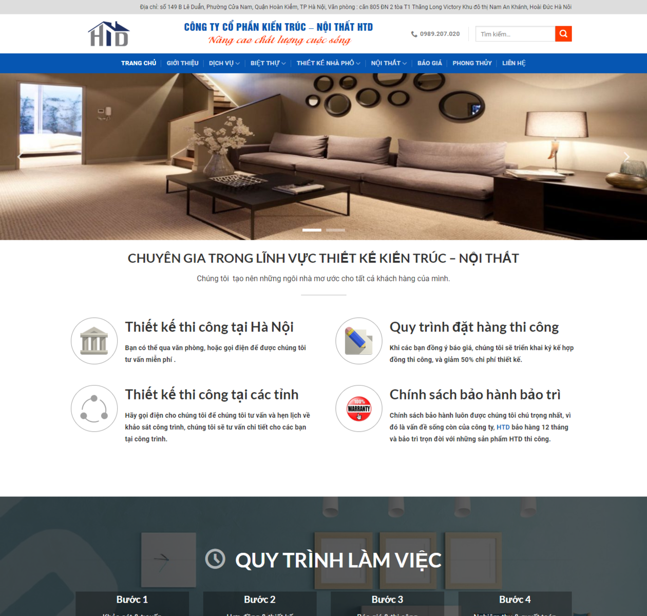 Mẫu web công ty kiến trúc - xây dựng thumbnail