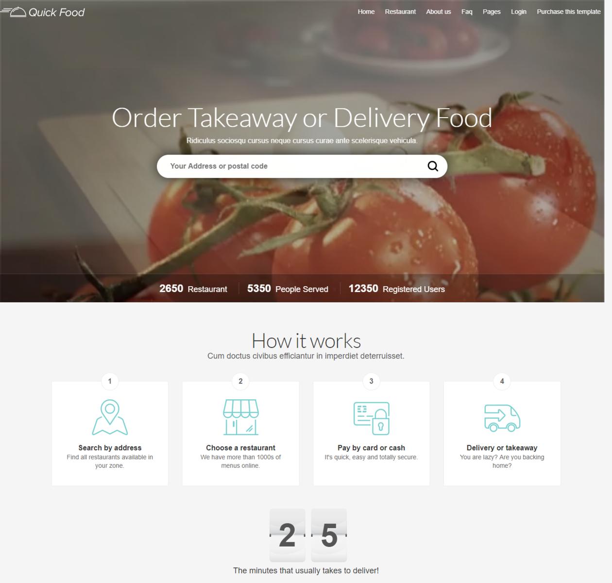 Mẫu web đặt món ăn online thumbnail