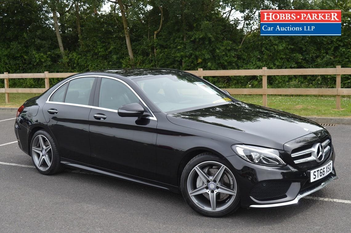 Mercedes / Benz C220D AMG Line Premium Auto / Saloon 4 Door / Black / 2143cc