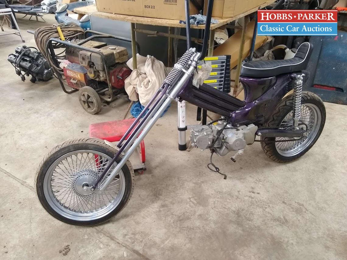 Honda / Custom Cub Chopper / Motorcycle / Black / Petrol / Manual / cc / miles