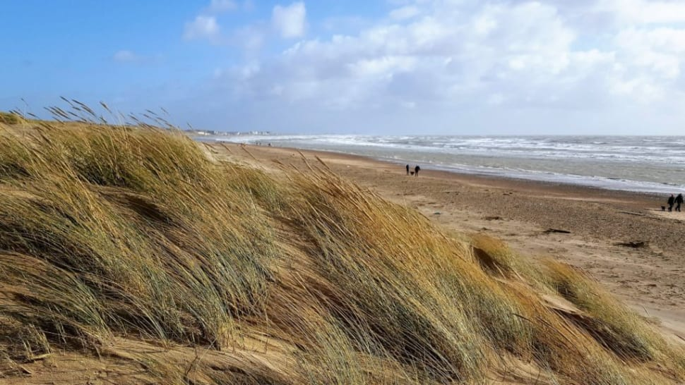 Camber Sands Beach in East Sussex