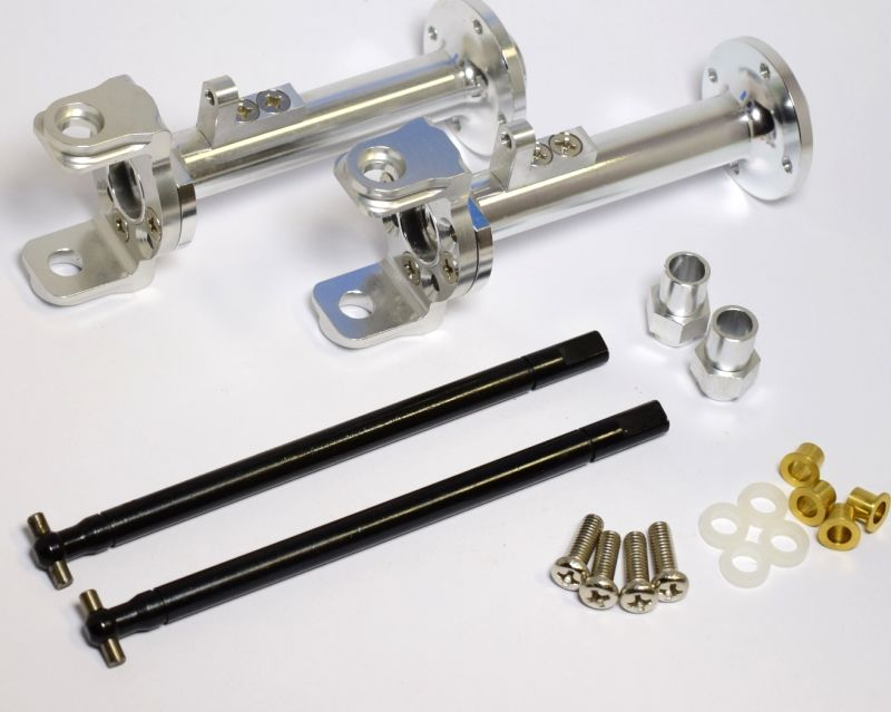 New Aluminum Front Rear Axle Link Shock Mount Set Tamiya 1//10 Super Clodbuster