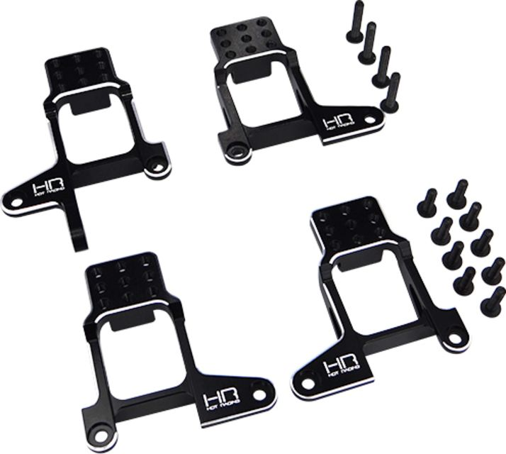CNC Machined Front Shock Tower Shock Mounts for Traxxas TRX-4 Black//Red