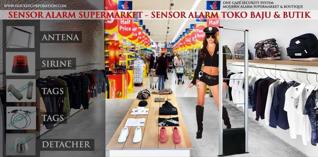 alarm security toko baju butik supermarket minimarket