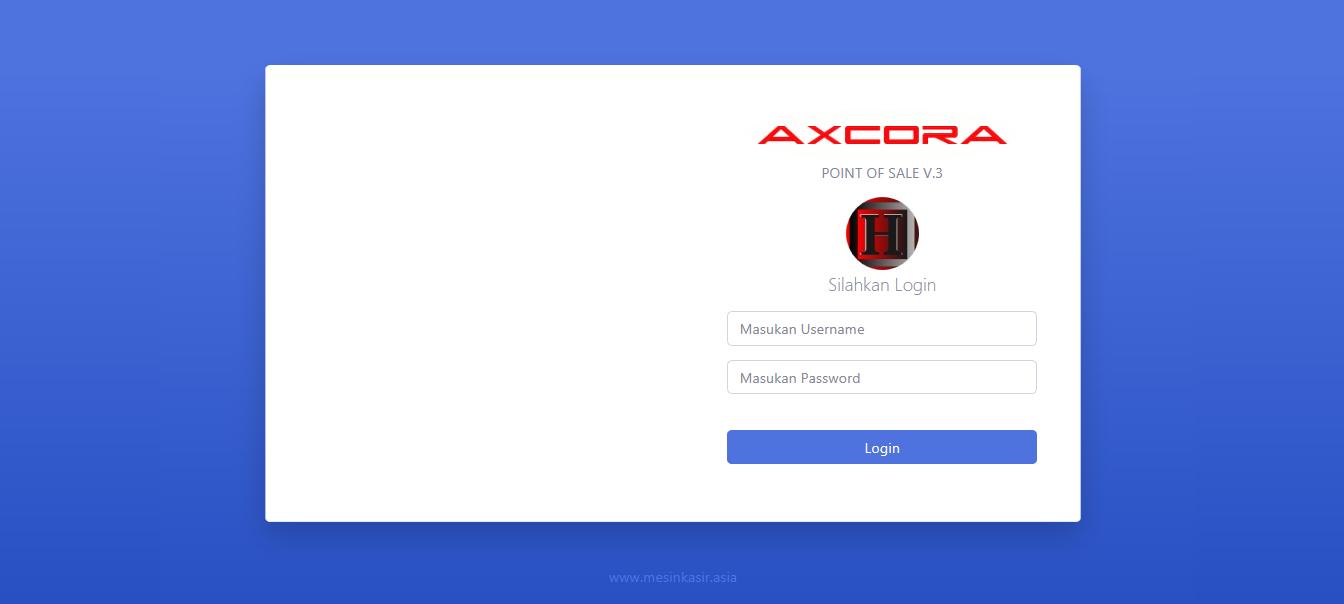 login aplikasi kasir ONLINE android iphone windos