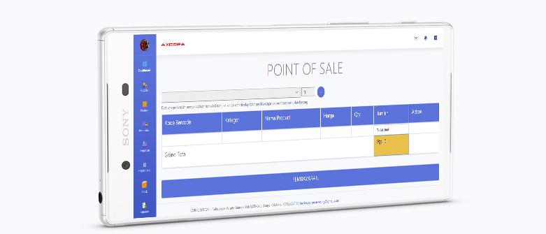 handphonw smartphone aplikasi kasir ONLINE android iphone windos