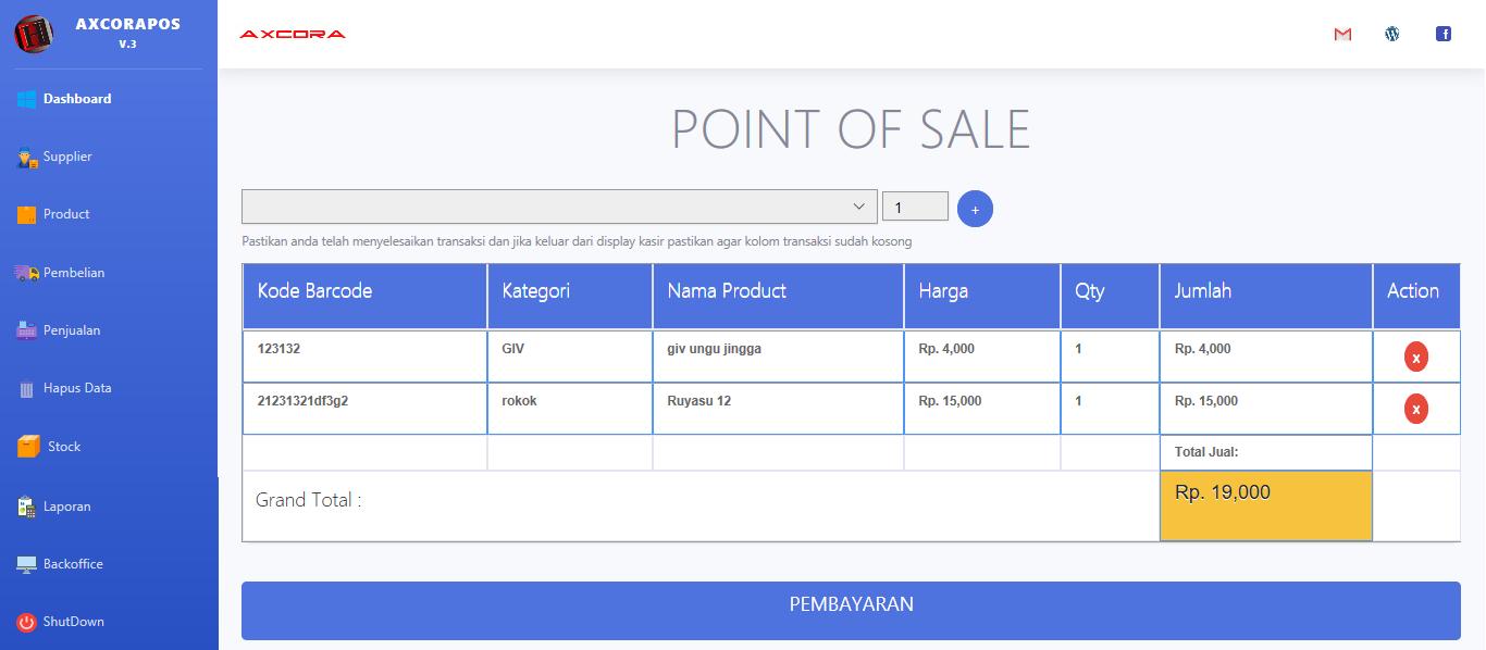 point of sale penjualan kasir aplikasi kasir ONLINE android iphone windos